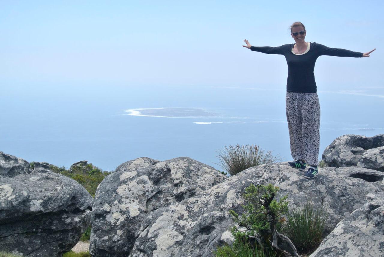 Reisevorbereitung langzeitreise Afrika - Bild oben auf dem TableMountain
