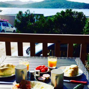 Ausblick mit Frühstück von der Natural Junior Suite