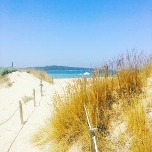 Weg zum Strand auf Isola dei Gabbiani