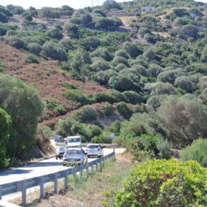 Wunderschöne Landstraße (127/133) von Alghero zurück nach Palau