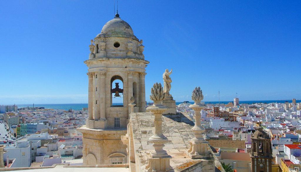 Cadiz Kathedrale von oben