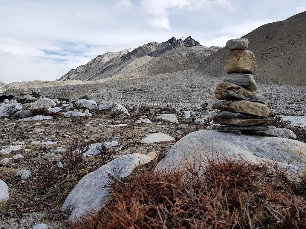 Wilde Landschaft in Tibet