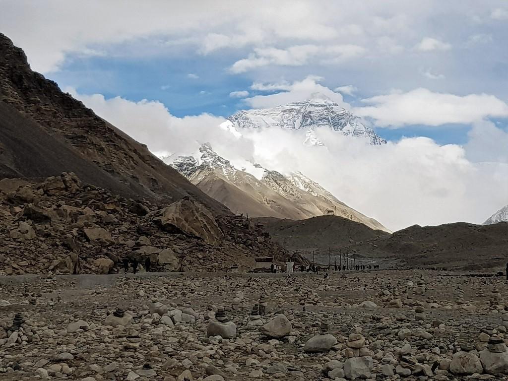 Der Mount Everest am Base Camp
