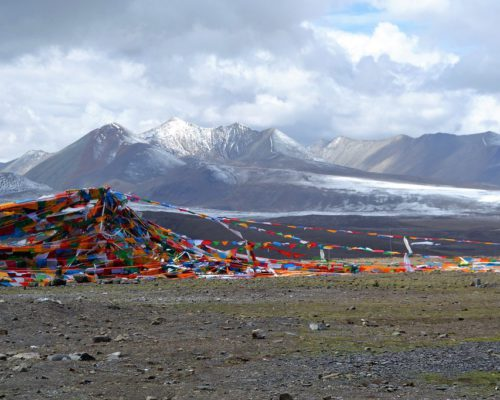 Berglandschaft in Tibet