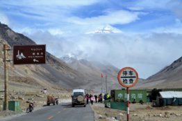 Straße zum Mount Everest Camp
