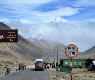 Straße zum Mount Everest Camp