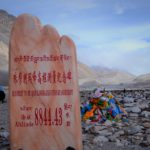 Steintafel am Mount Everest Base Camp