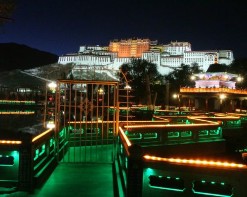Blick auf Potala Palace