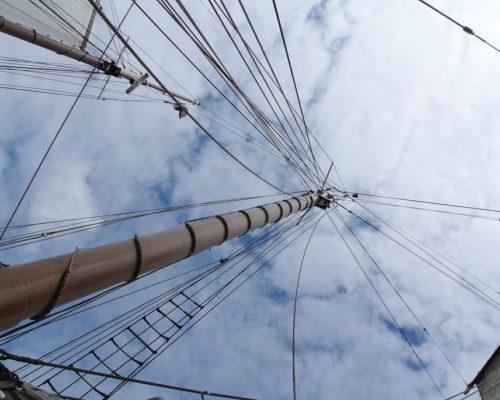 Segeltörn entlang der Elbe - Blick nach oben