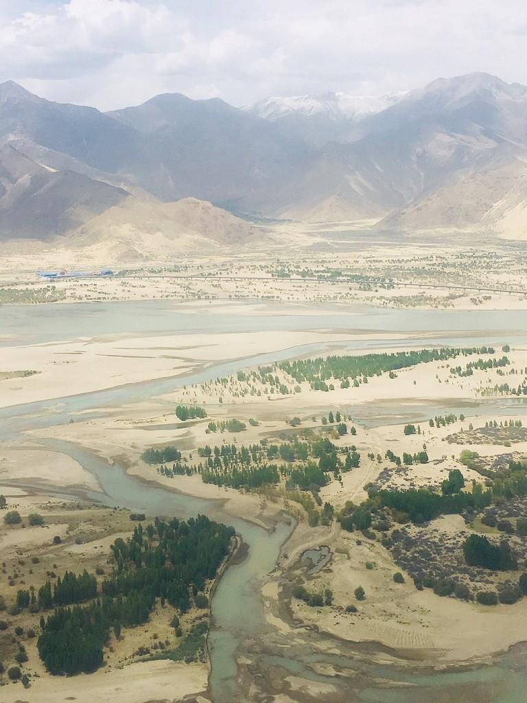 Landeanflug Lhasa