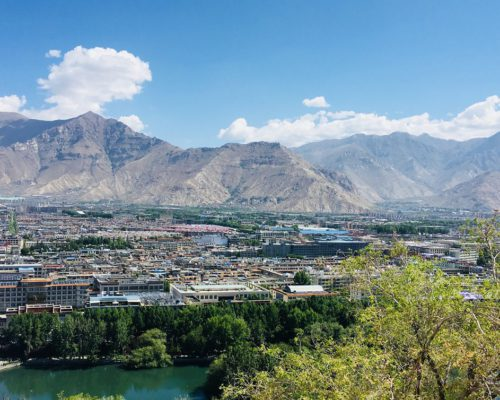Ausblick auf Lhasa vom Koster