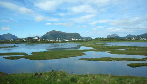 Blick auf die Lofoten inNorwegen