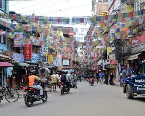 Kathmandu Trubel in der Stadt
