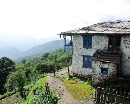 Aussicht vom Tadapani Guest House