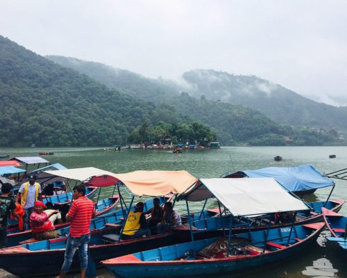 Boote am Phewa See