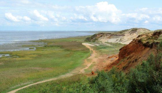 Nordsee Urlaubstipps: Ausblick Morsum Kliff