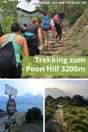 Pinterestbild zum Trekking in Nepal