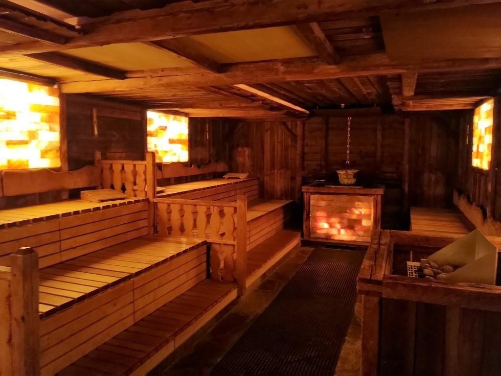Ruhezone in der Sauna