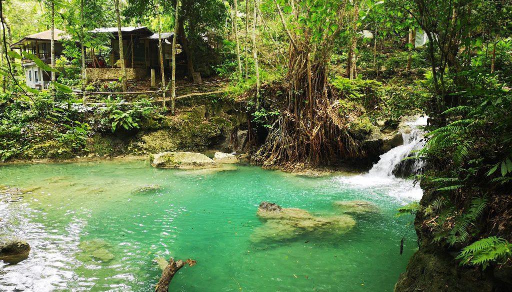 Kawasan Falls Insel Cebu Philippinen