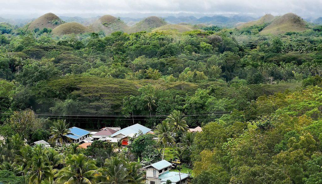 Wald, bekannte Hügel auf Bohol