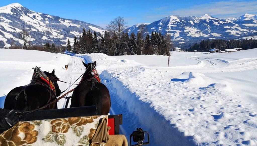 Pferdeschlittenfahrt Brixental Österreich