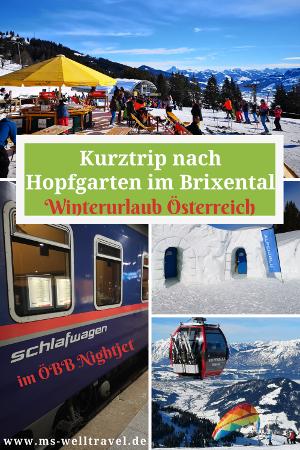 MSWellTravel Hopfgarten Brixental entspannt mit der OEBB erreichen