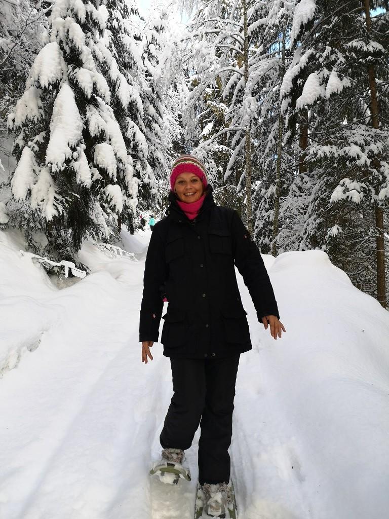 Ich beim Schneeschuhwandern