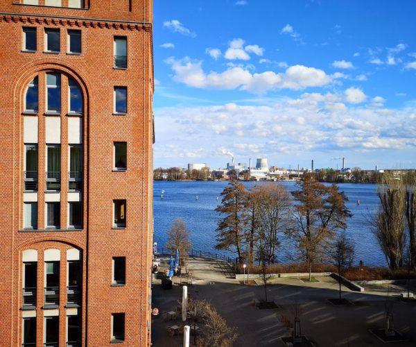 Blick auf den Spandauer See von meinem Hotelzimmer