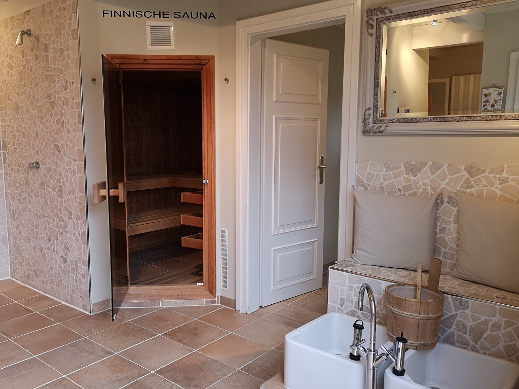 Ferien auf Föhr: Sauna im Rackmers Hof
