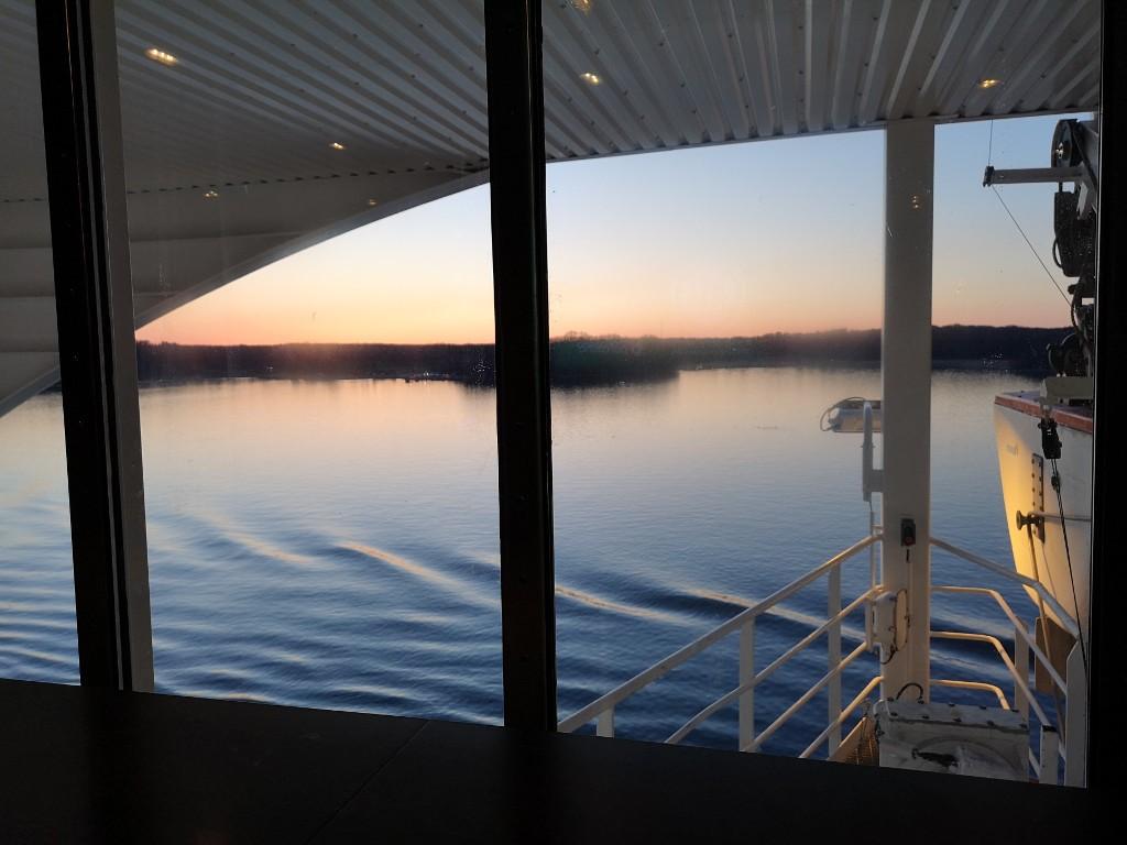 Sonnenuntergang von der Baltic Queen