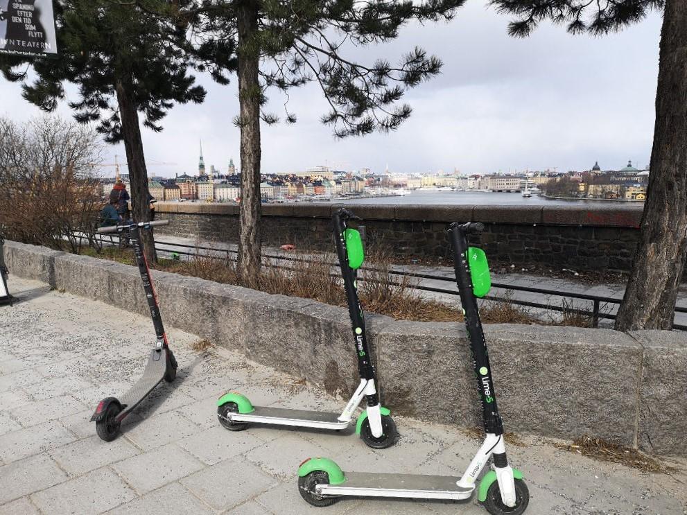 Leih-E-Roller für die Fortbewegung
