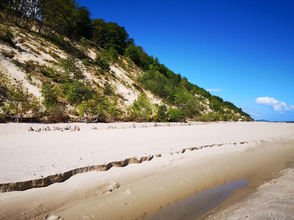 Wandern am Ostseestrand auf Usedom