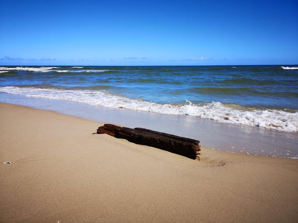 Klimawanderung am Strand