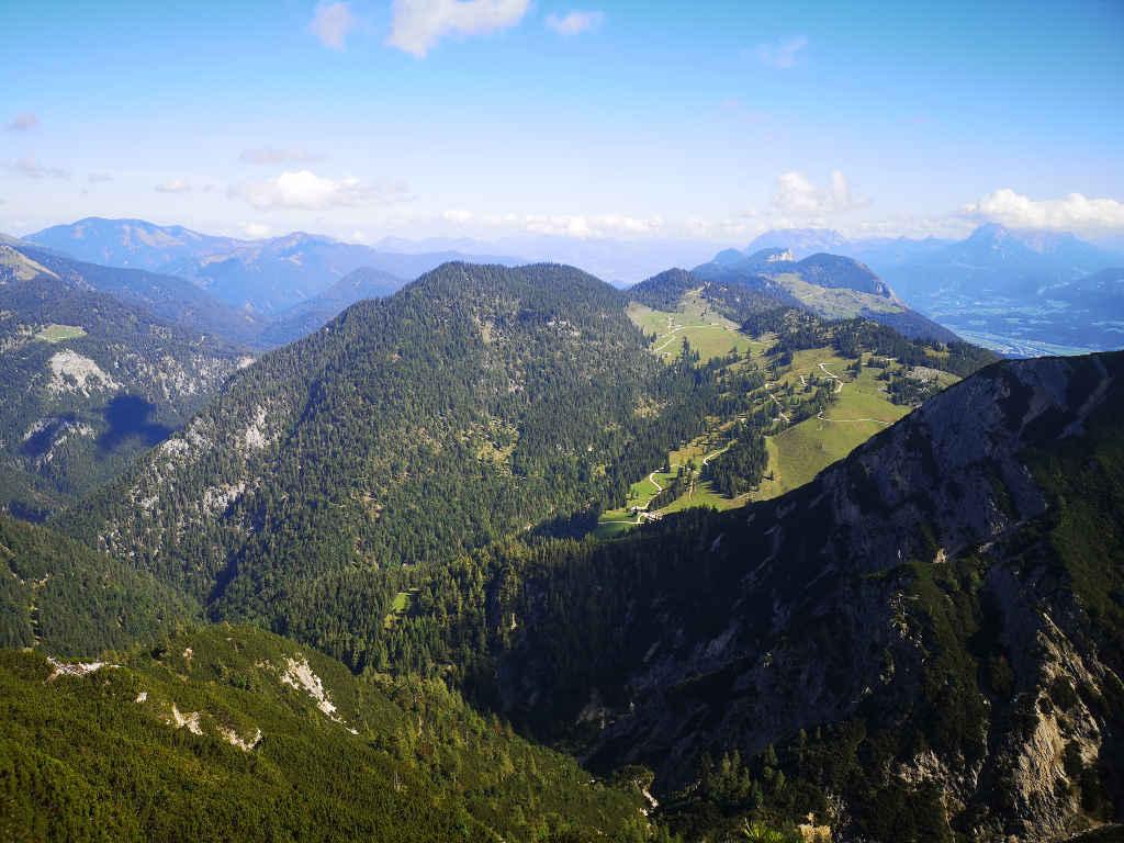Blick auf die Brandenberger Alpen