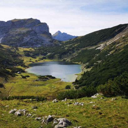 Zireiner See auf der Mehrtageswanderung Österreich