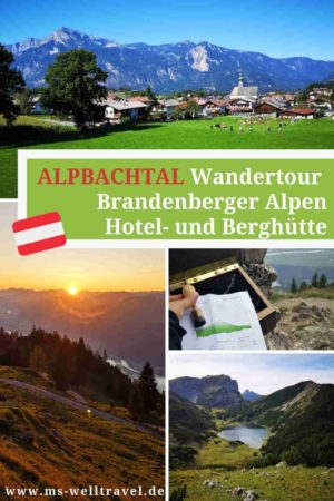 Bericht Mehrtageswanderung im Alpbachtal