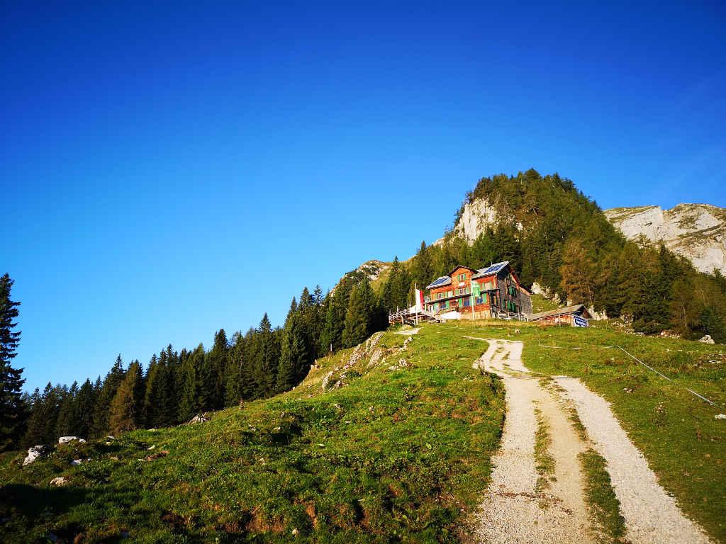Etappenziel erreicht - Bayreuther Hütte