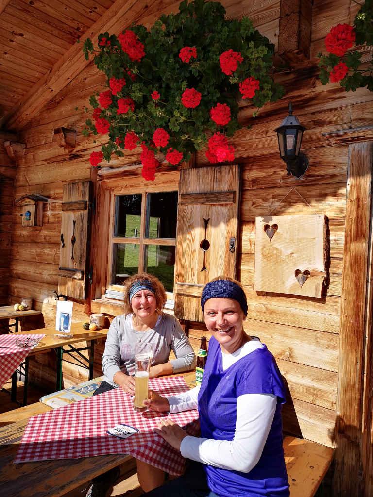 Pause an der Anderl's Hütte