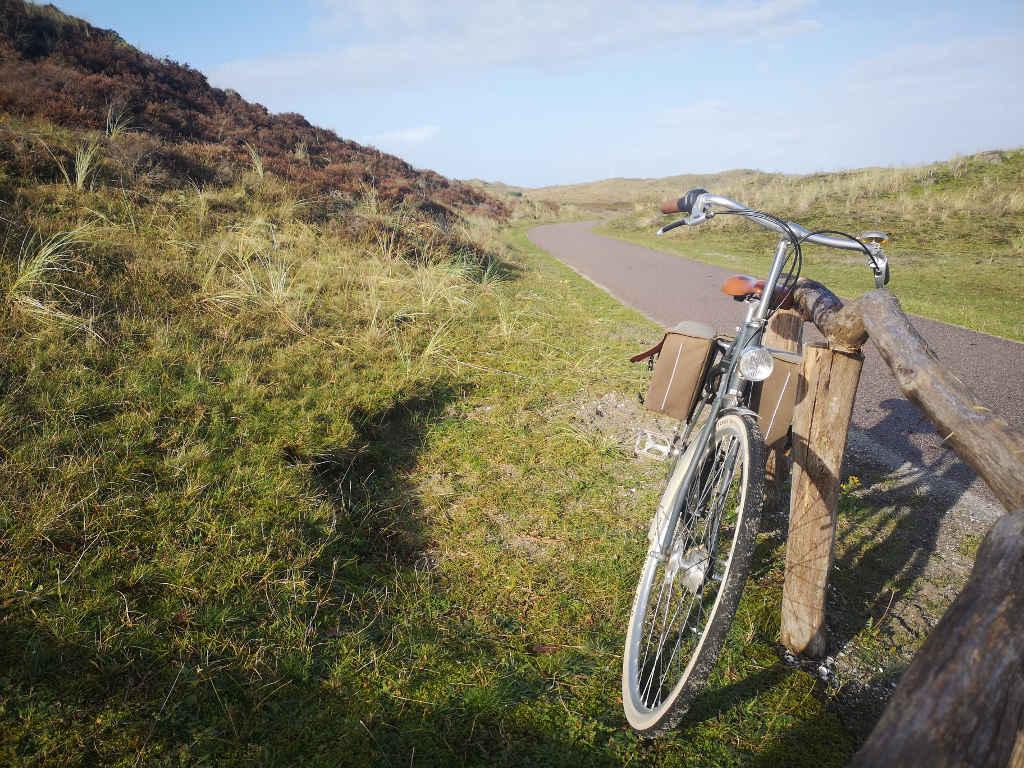 Radfahren durch die herrliche Dünenlandschaft rund um Schoorl