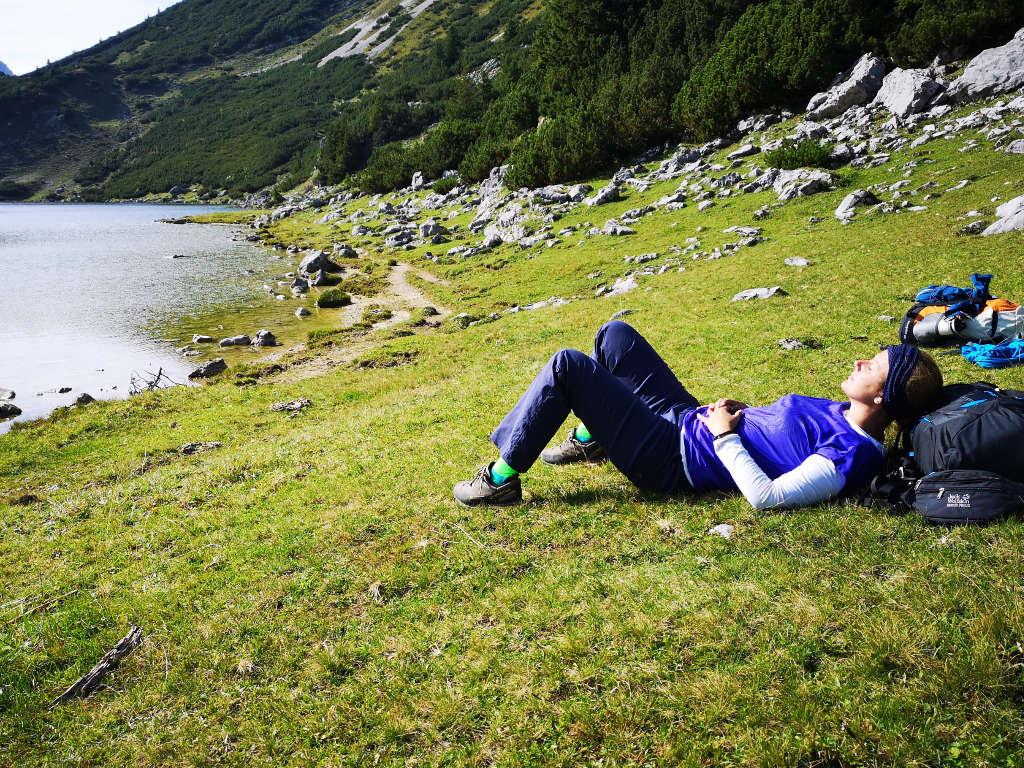 Entspannung auf einer Hüttenwanderung - Tipp: Zeitplanung