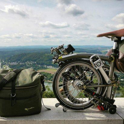 Radtour Rheinradweg - unterwegs mit dem Faltrad