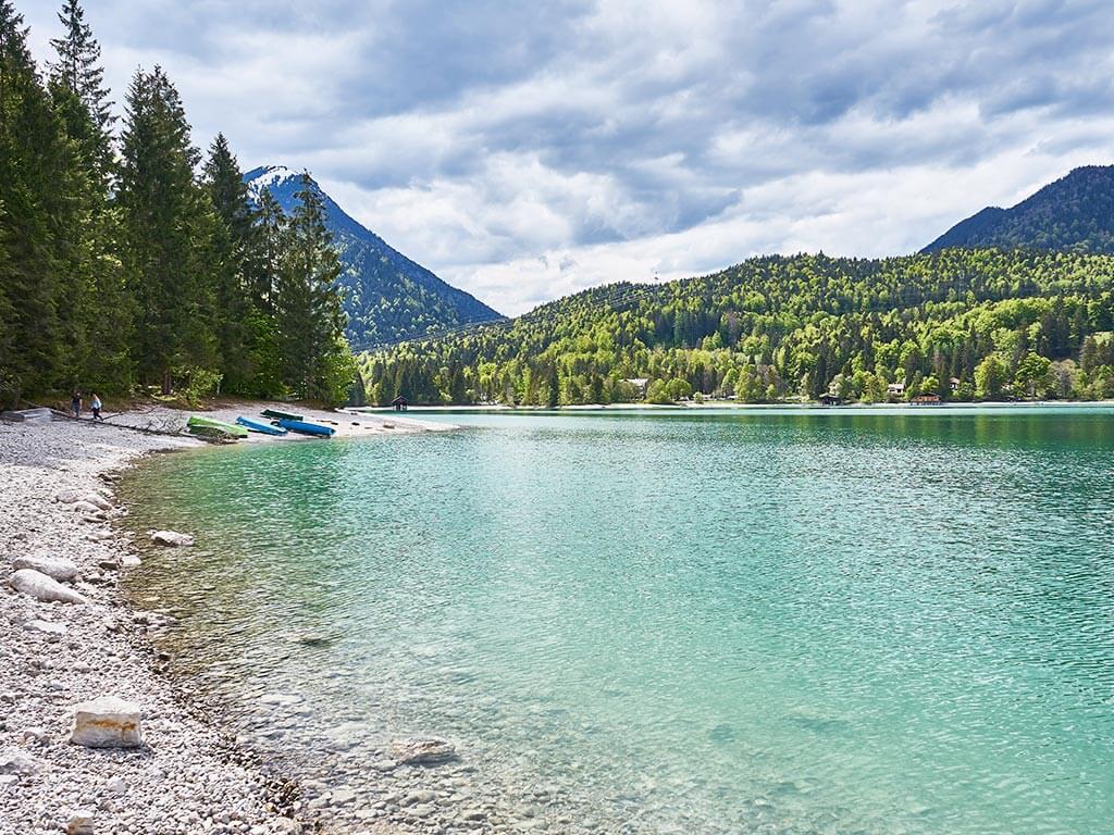 Radtour Bayern: von Garmisch nach Kochel und vorbei an dem Walchensee - Seen in Bayern