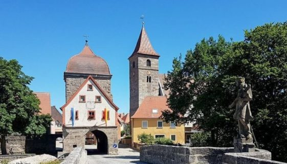 Radtour im Altmühltal - Altmühlbrücke Ornbau