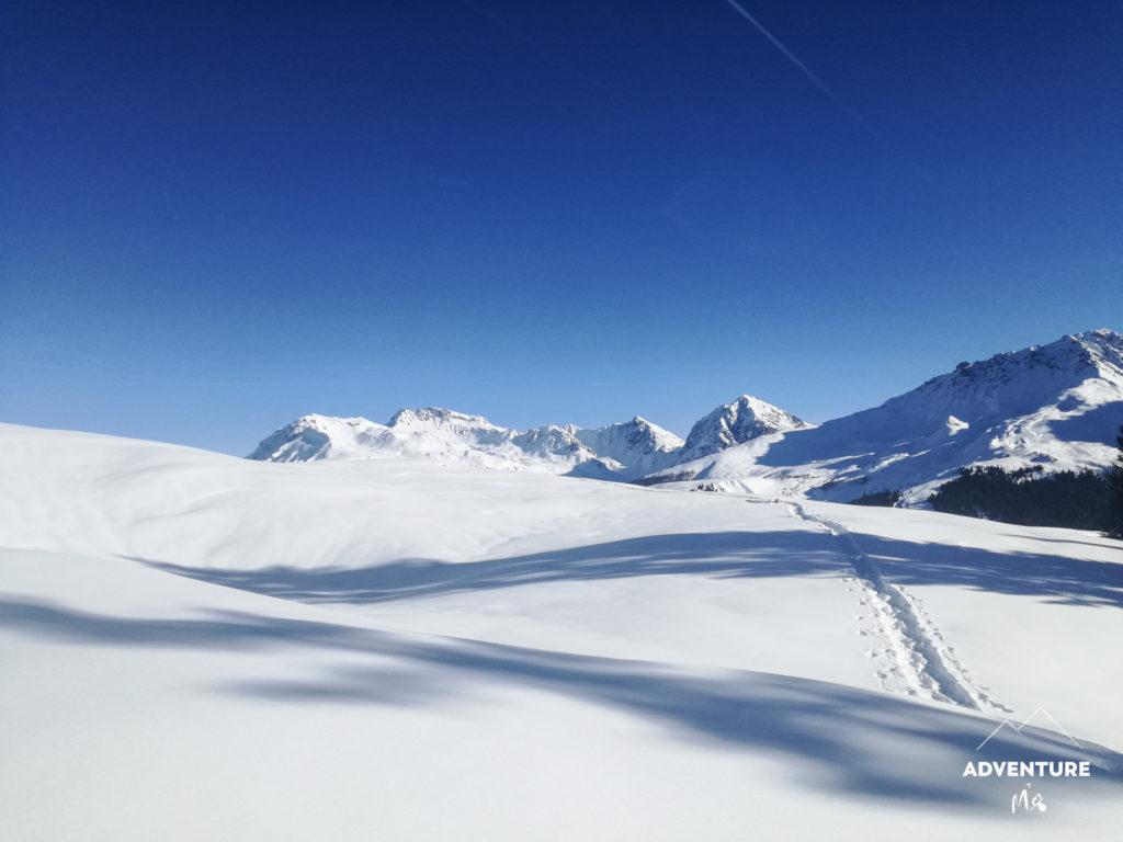 Landschaft auf der Schneeschuhwanderung ©Kids,Adventure