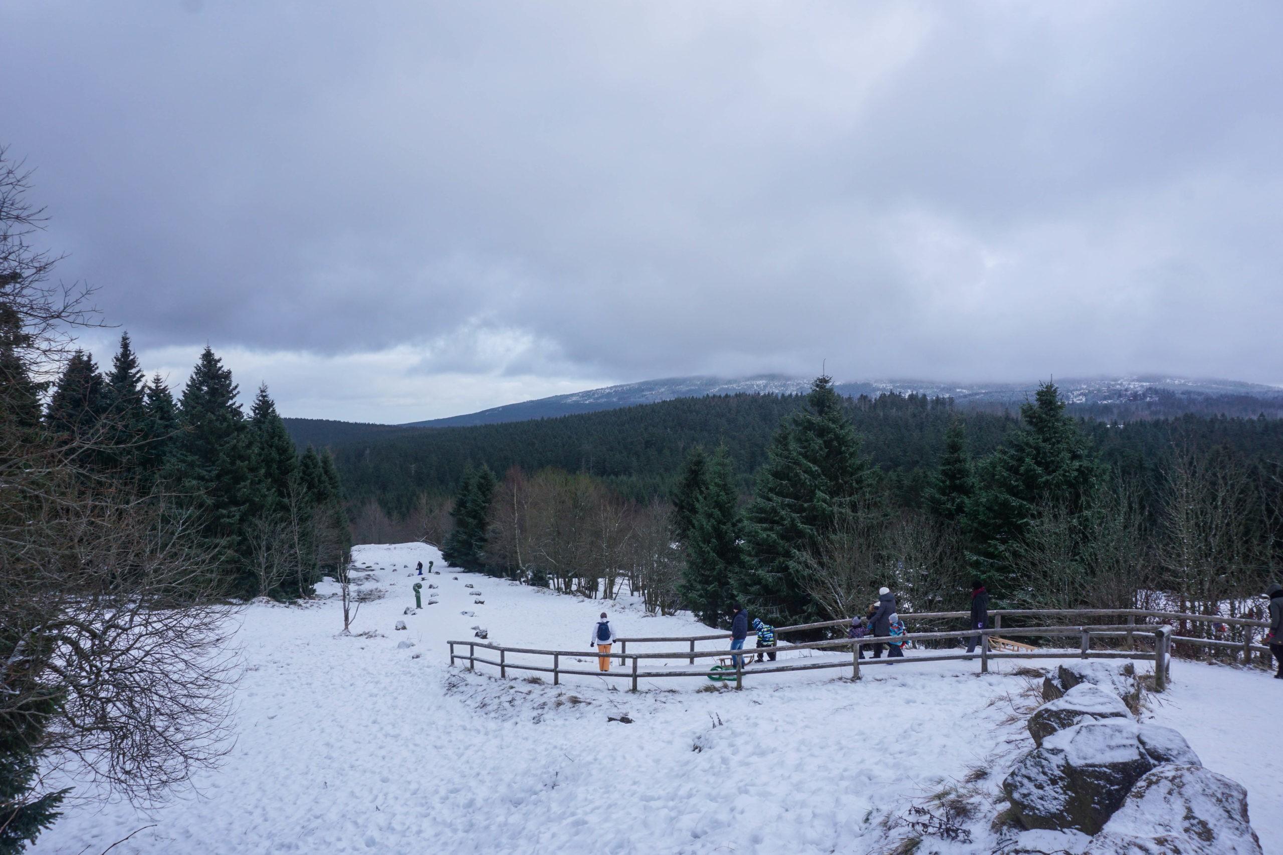 Torfhaus - Wandern im Schnee ©Vickiviaja