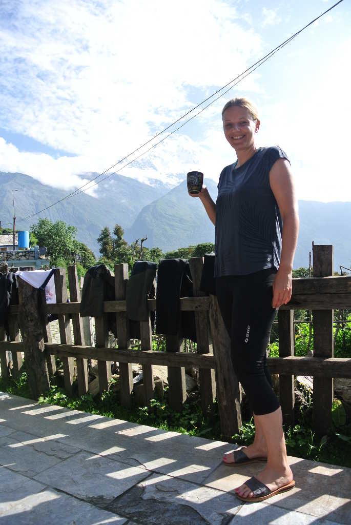 Marina Schütt vom MS WellTravel Reiseblog auf dem Poon Hill Trek