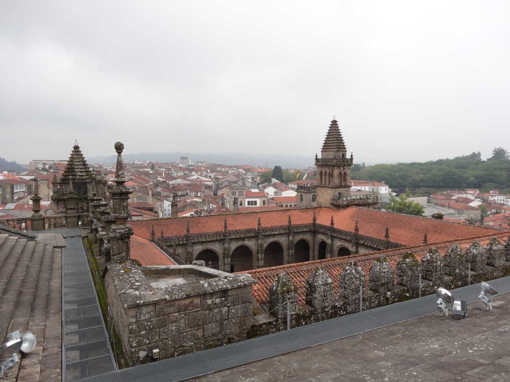 Aussicht von der Kathedrale in Santiago de Compostela ©AhoiundMoinMoin
